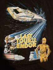 Star Tours Last Tour to Endor Tshirt. Rare exclusive. Brand new 2X shirt black.