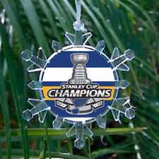 St. Louis Blues Stanley Cup Champs Lit Snowflake Holiday Christmas Tree Ornament