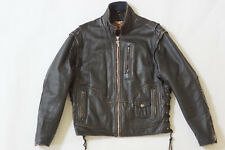 Harley Davidson Men Vintage 90's PANHEAD Convertible Black Leather Jacket Vest M