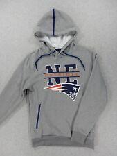 New England Patriots NFL Football Hoodie Sweatshirt (Mens Small) Silver