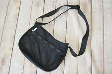 LeSportSac Black Everyday Messenger Cross Body Solid Nylon Handbag Purse Bag