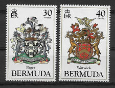 BERMUDA , 1985 , COATS OF ARMS ,  SET OF 2 STAMPS ,  PERF , MNH