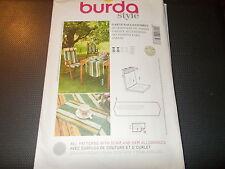 Burda Style Pattern 7266 Outdoor Garden Decor ~ Chair Cushion, TableRunner, More