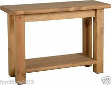 Solid Pine Distressed Waxed Console Table W110cm x D40cm x H77cm TORT