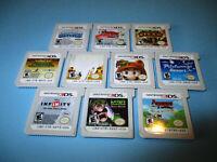 Lot of 10 Nintendo 3DS Games New Super Mario 2 3D Land Luigi's Mansion +