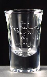 Personalised 1oz Shot Glass, Valentines Day Gift, Free Engraving