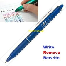 Pilot FriXion CLICKER Retractable 0.7mm Heat Erasable Rollerball Pen Black Blue