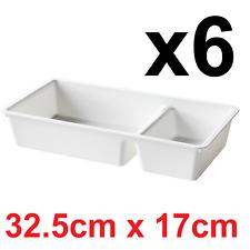 6x Plastic Drawer Organiser IKEA BILLINGEN Boxes Trays Divider Wardrobe Malm