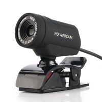 USB 1080P HD WebCam Web Camera Video with Mic For MSN Skype Desktops PC TH