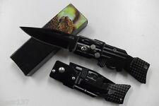 Petit Couteau de Poche Massif Forme Fusil AK47 Lame Acier 7 Cm Manche Acier 9 Cm