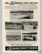 1963 PAPER AD Sheperd Motor Boat Cruiser 33' Express 45' Yacht