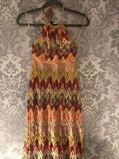 River Island Chelsea Niña Vestido Maxi inspirado diseñador Talla 8 Buen Estado