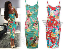 Stretch, Bodycon Formal Floral Sleeveless Dresses for Women