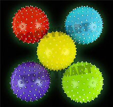 """(LOT OF 5) 5"""" Glow in the dark Inflatable Knobby Balls RM3462"""