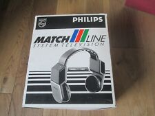 More details for vintage c.1980 retro philips wh200 wireless headphones boxed sports commentator?