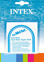 INTEX Wet Set Adhesive Vinyl Plastic Swimming Pool Tube Repair Patch 6 Pack Kit