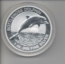 1 OZ Unze Silber - Australien 2019 Bottlenose Dolphin Delfin; BU in Kapsel