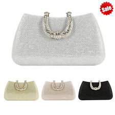 Women's Rhinestones Crystal Evening Clutch Bag Party Prom Wedding Purse