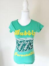 Vintage Coca Cola Grn Yellow Sprite Caffiene Sparkle Shirt Women Size Small 3/5