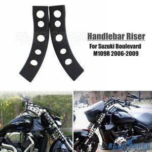 Pair Drop Handlebar Risers For Suzuki Boulevard M109R M109 VZR1800 06-14 Black