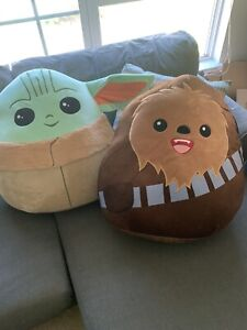 NEW SQUISHMALLOWS - The Child And Chewbacca 20'' Kellytoy - Disney Star Wars