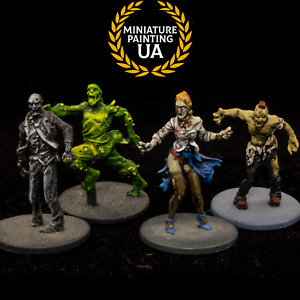 ⭐️Zombicide Expertly Painted Zombie Walkers Runners, Modern Apocalypse RPG