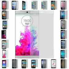 5X Blister Cell Phone Premium Clear Tempered Glass Screen Protector Guard