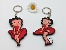Vintage 50's BETTY BOOP Style Key Ring / Chain / Keyring Mirror Home Deco Charm
