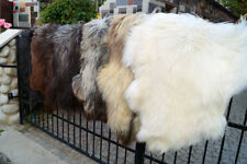Soft Natural Heidschnucke Sheepskins. Genuine and Authentic Handmade Rugs.