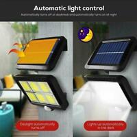 120 LED Solar Power Motion Sensor Light Outdoor Garden Lamp Security Q0K4