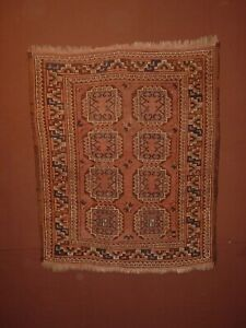 WONDERFUL ANTIQUE 1890 TURKOMAN ERSARI WEDDING RUG ****HG***