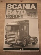 Tamiya 1/14 56318 Scania R470 Highline Tractor Truck Instruction Manual