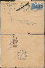 FRANCE 1945 PNEUMATIQUE POST 10F...HOTELIER ENVELOPE