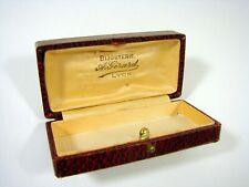 Ancienne Boîte à Bijoux Galuchat Bijouterie A. Girard Lyon D - 3 x 9,5 x 4,5 cm