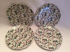 Springfield China England Floral Salad Dessert Plate Set 4 BEAUTIFUL Magnolia