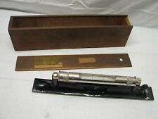 Early Rabone England Antique Machinist Level Tool w/Wooden Box