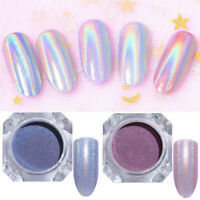 2 Boxes 1G Holographic Purple Pink Glitter Nail Art Powder Dust Laser