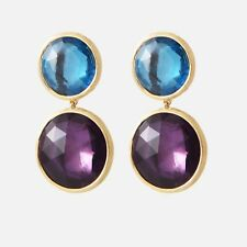 Marco Bicego Jaipur Earrings, 18K, Amethyst & Blue Topaz