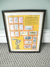 1956 OLYMPICS Stamp Framed Tribute by Postal Commemerative Society:Jesse Owens,