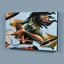 Garibaldi - Dreads And Drums - Ltd Ed Canvas Giclee Gallery Wrap Numbered COA