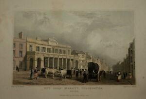 CORN MARKET COLCHESTER, ESSEX 1831. GENUINE ANTIQUE.