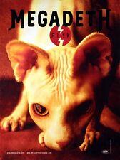 Megadeth Original 1999 Risk Promo Poster Original