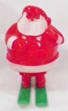 Vintage Santa Claus On Skis Candy Container Hard Plastic Christmas Decoration 1