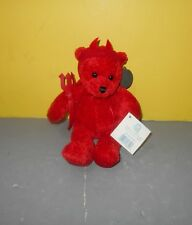 "Teddy Bear Red Macaroon Devil 10"" Bean Plush Stuffed Animal Princess Soft Toys"