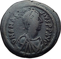 ANASTASIUS Authentic Ancient Constantinople Half Follis Byzantine Coin i44477