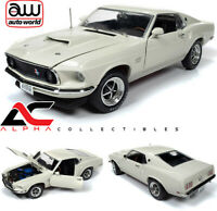 AUTOWORLD AMM1196 1:18 1969 FORD MUSTANG FASTBACK BOSS 429 WHITE