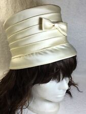Vintage Woman's Cream Ivory Silk Hat