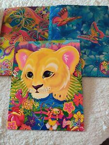 Lisa Frank Folders Vintage 90's Groovy fashions lot of 3 lion cub rare used