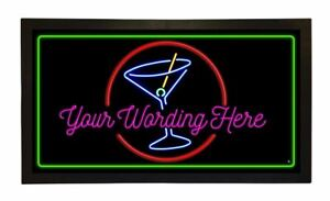 Personalised Bar Runners Home or Pub Bar Mats Mens Gift Idea Cocktail