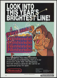 NINTENDO__Original 1984 Trade print AD / ADVERT__Donkey Kong_Nintendo of America